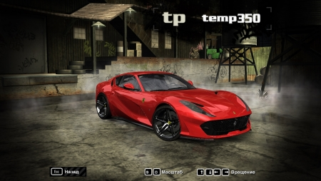 2018 Ferrari 812 Superfast для NFS Most Wanted 2005