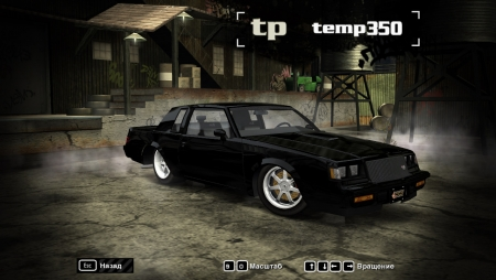 1987 Buick Grand National для NFS Most Wanted 2005