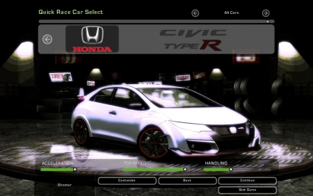 Honda Civic Type-R для NFS Underground 2